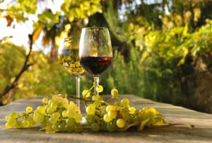 bigstock-Pair-of-wineglasses-and-bunch--26611667